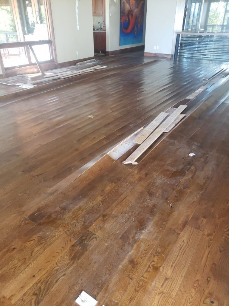 Water Damaged Hard Wood Flooring